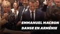 Emmanuel et Brigitte Macron ont participé à une danse folklorique en