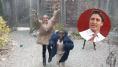 La joie de ces enfants réfugiés découvrant la neige a beaucoup plu à