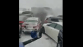 El impactante vídeo de un accidente múltiple por la nieve en