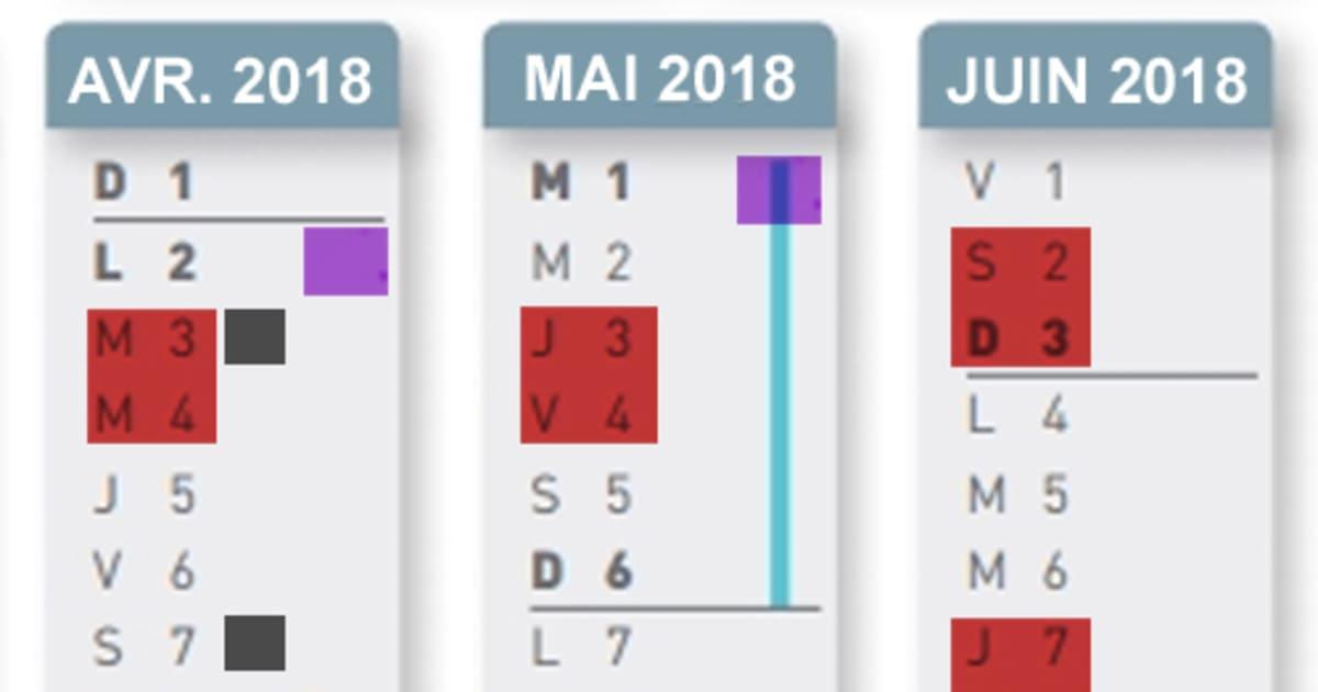 Calendrier Greve Sncf Mai.Jours Feries Mai 2018 France