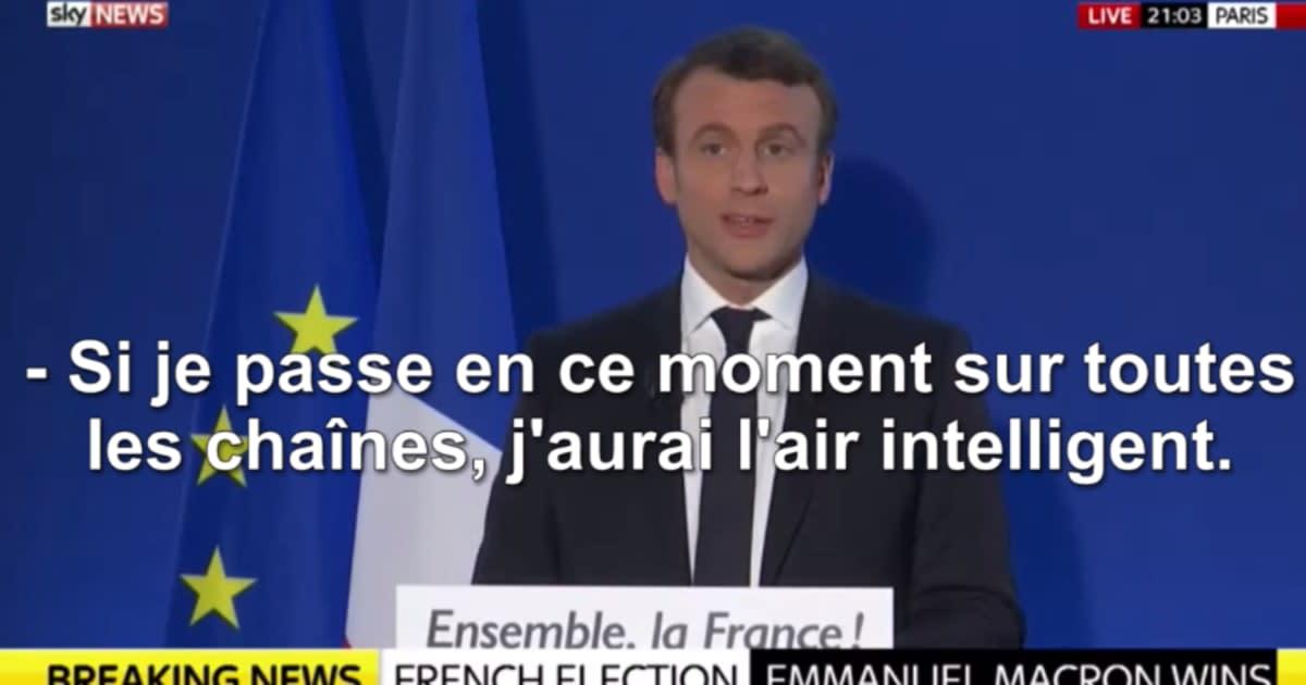 """Résultat de recherche d'images pour """"Macron sur toutes les chaines"""""""