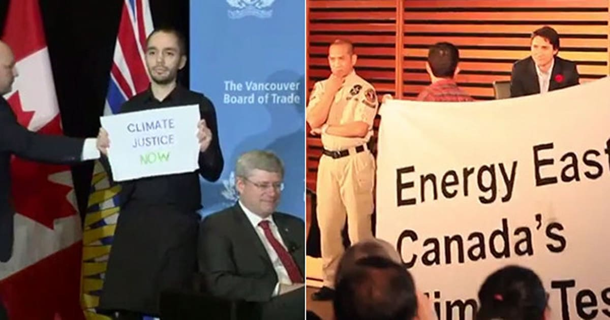 1daa0555e3db2 Trudeau Treats Protesters Very Differently Than Harper. He Talks To Them  (VIDEO)
