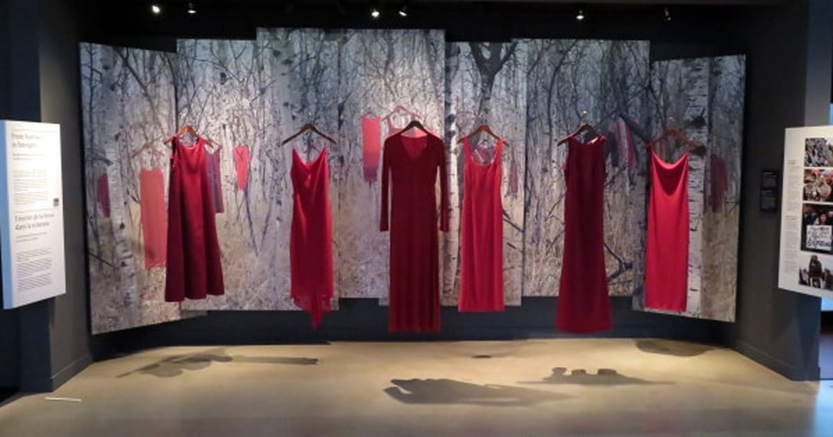 Image result for Haunting Red Dresses Memorialize Murdered and Missing Indigenous Women