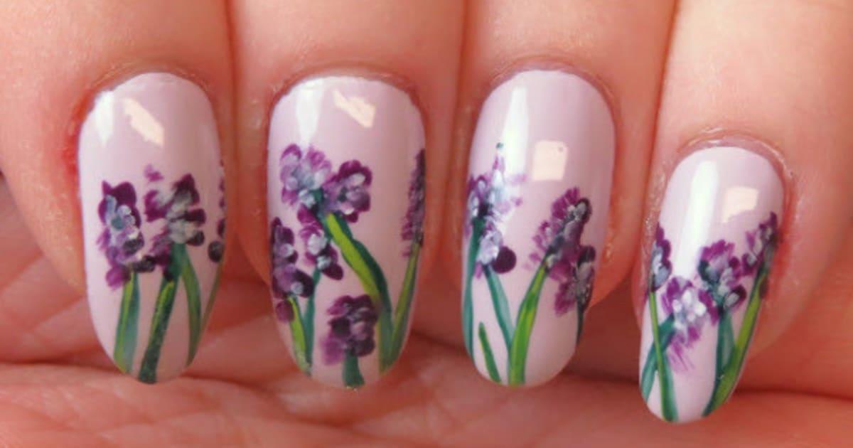 Nail Art: An Easy Floral Watercolour Design