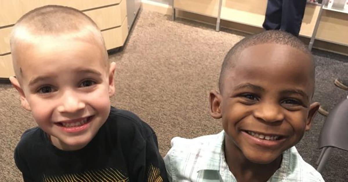 5 Year Old Boy Jax Gets Same Haircut As His Friend So You Cant