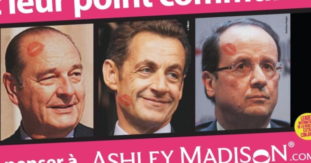 PHOTOS, Ashley Madison: les infidélités de Mitterrand, Chirac, Sarkozy et  Hollande utilisées dans une publicité pour un site de rencontres