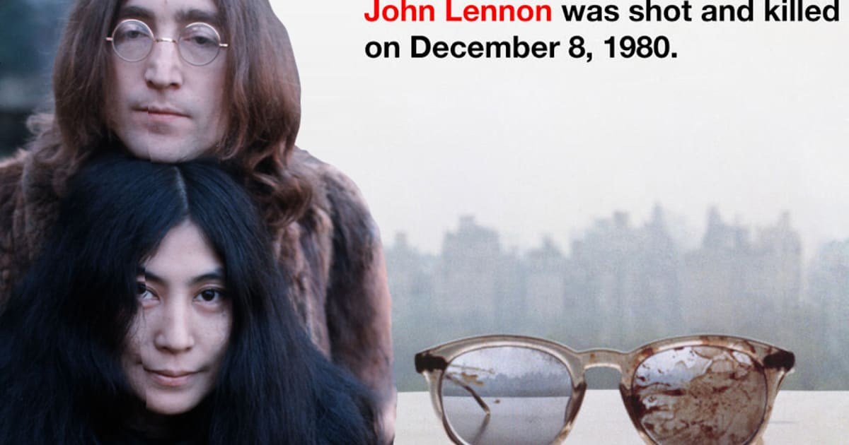 Yoko Ono Tweets Picture Of John Lennons Blood Stained Glasses In Anti Gun Protest PICTURES