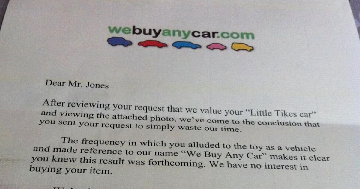 The Best Corporate Response Letter Ever (PICTURE)