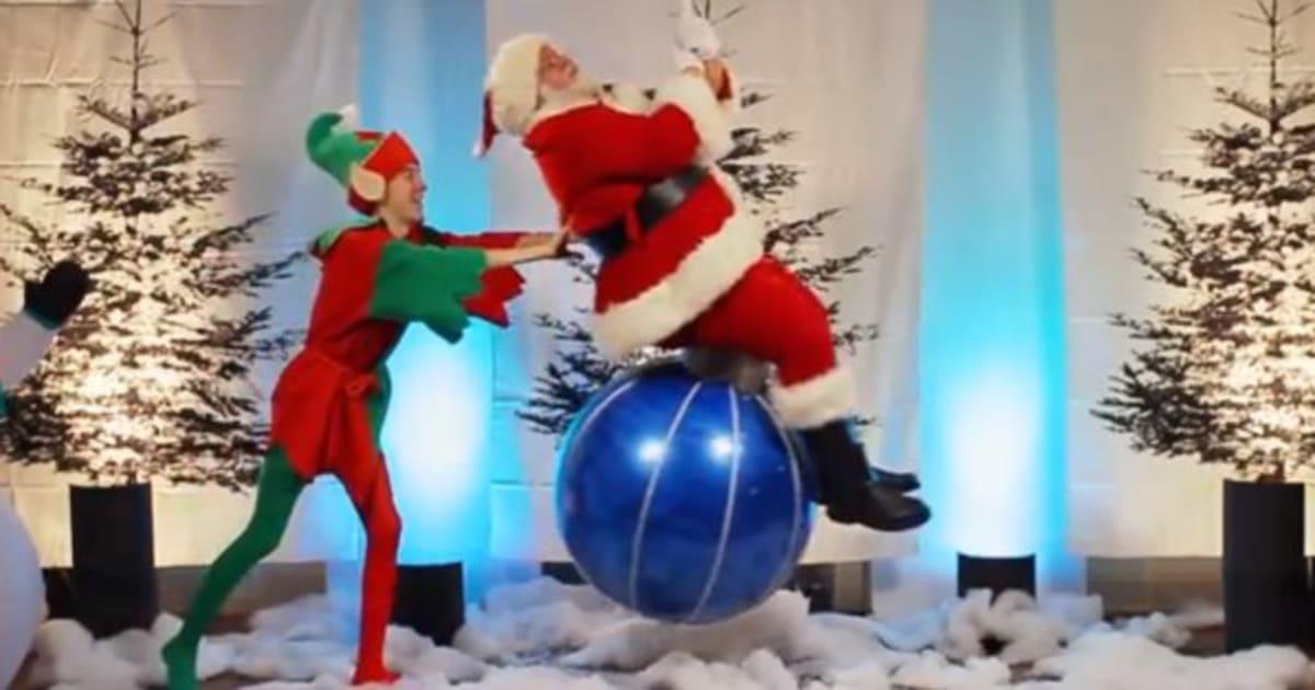 Miley Cyrus Wrecking Ball Christmas Ornament.Miley Cyrus S Wrecking Ball Gets A Festive Parody As Deck