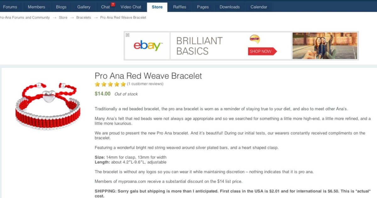 Pro Anorexia Sites Ing Merchandise And Even Bracelets To Promote Eating Disorders Huffpost Uk