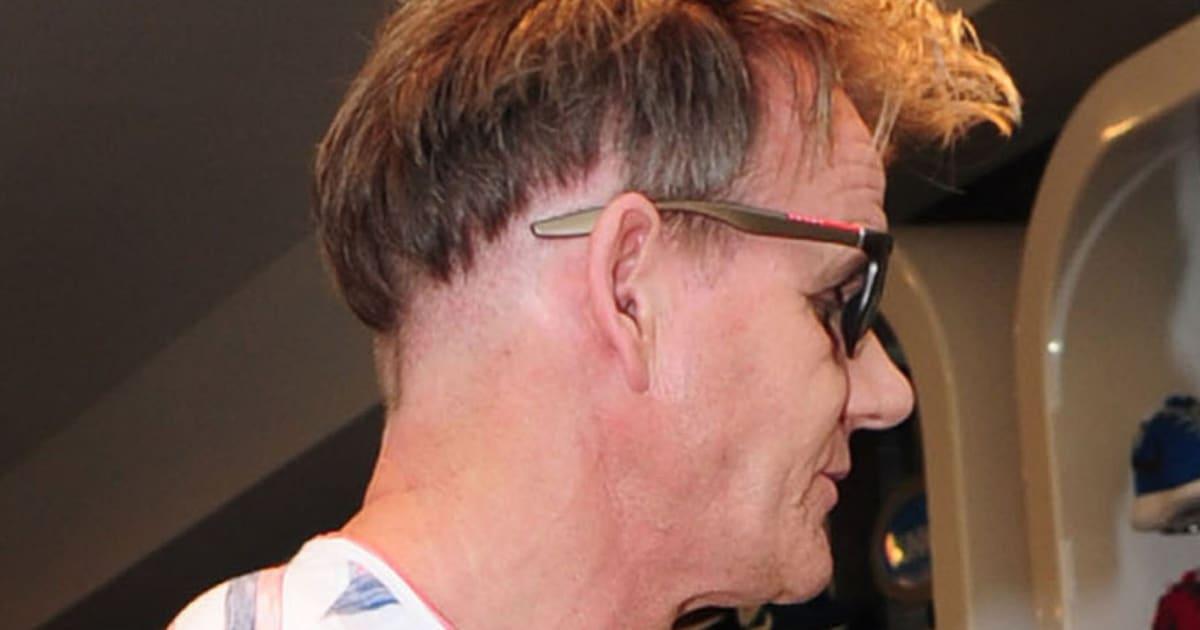 gordon ramsay shows off bizarre new haircut during london shopping