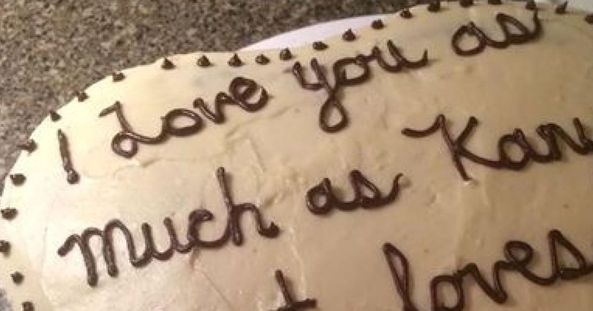 Nothing Says Love Quite Like This Kanye West Inspired Cake