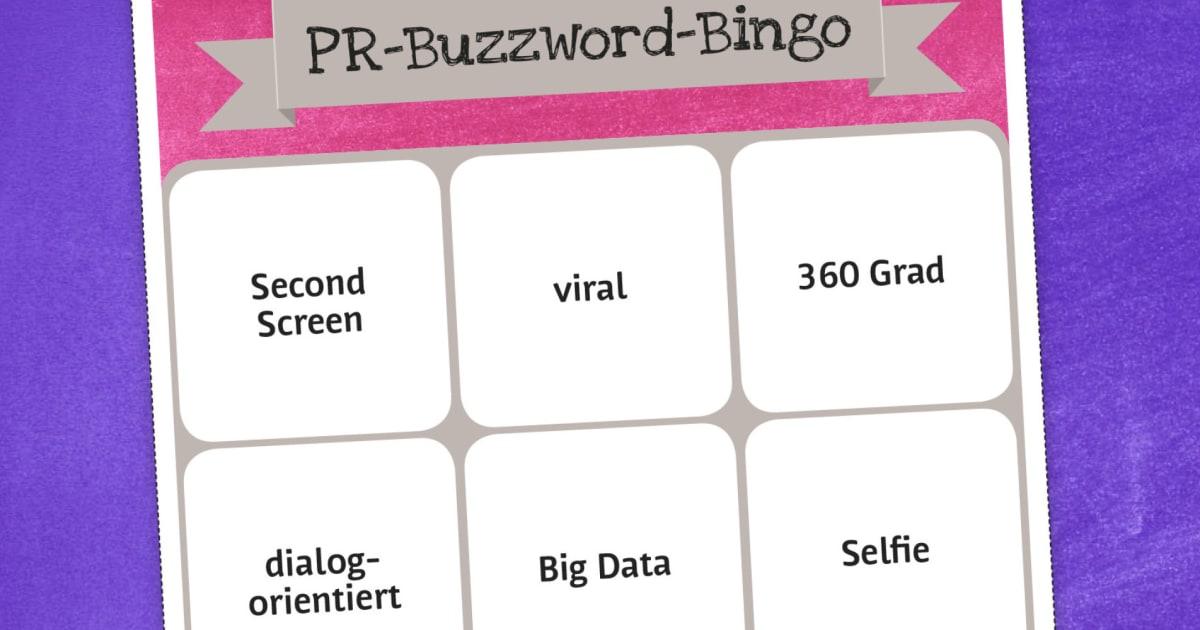 Der Lautsprecher Pr Buzzword Bingo Huffpost Deutschland