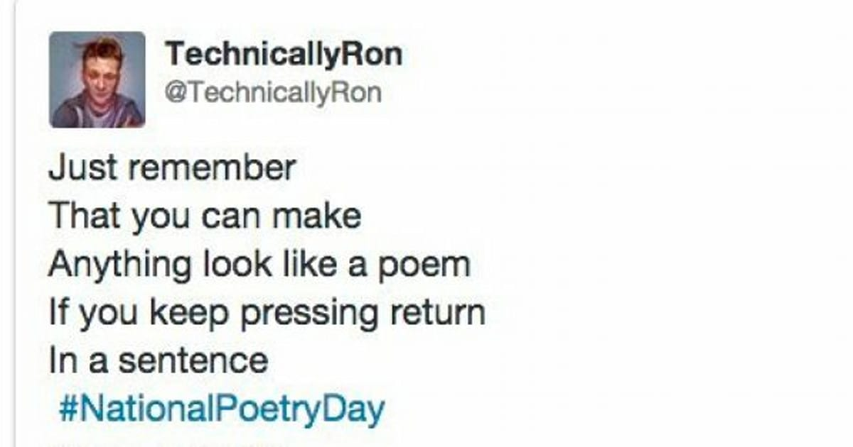 National Poetry Day: Twitter's Funniest Reactions And ...