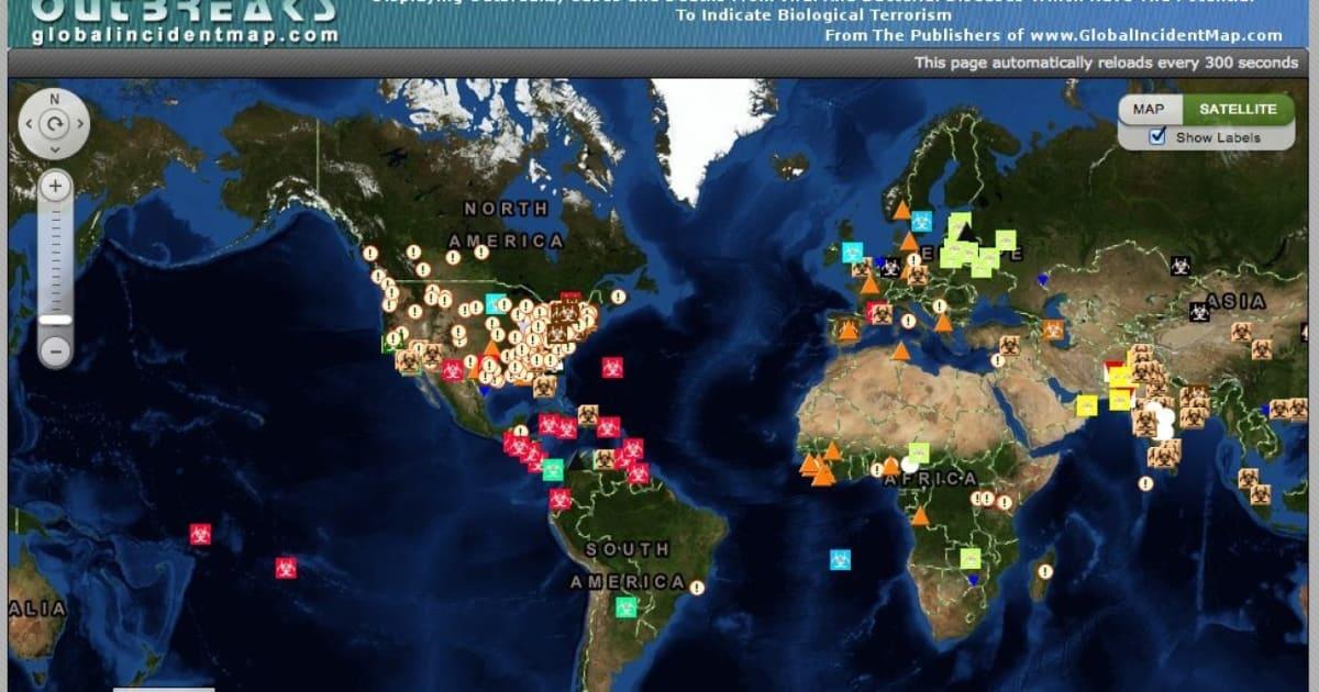 Disease Outbreak Map