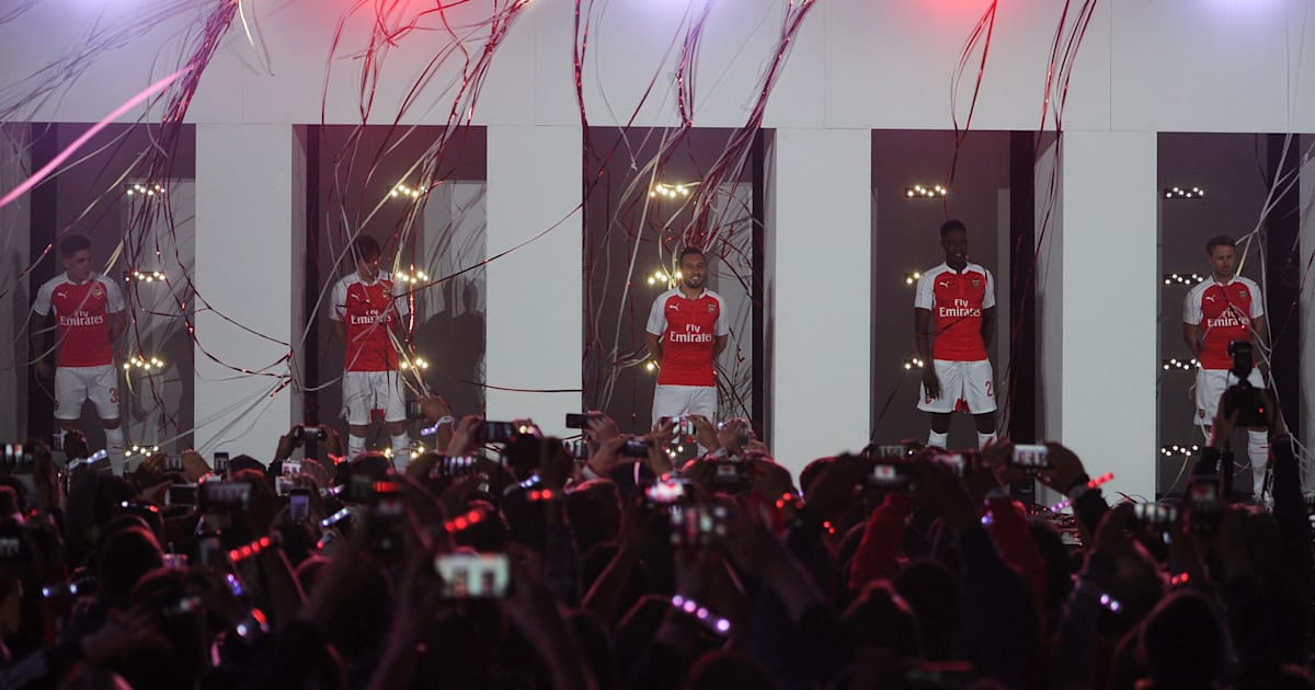 New Arsenal Kit 2015 16  Gunners Release New Puma Shirt At Over The Top  Launch (PICTURES) 19db2315d