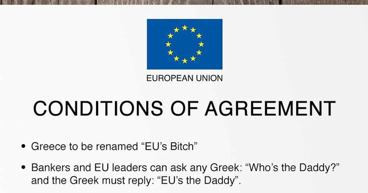 Conditions Of Greece Agreement With European Union Revealed