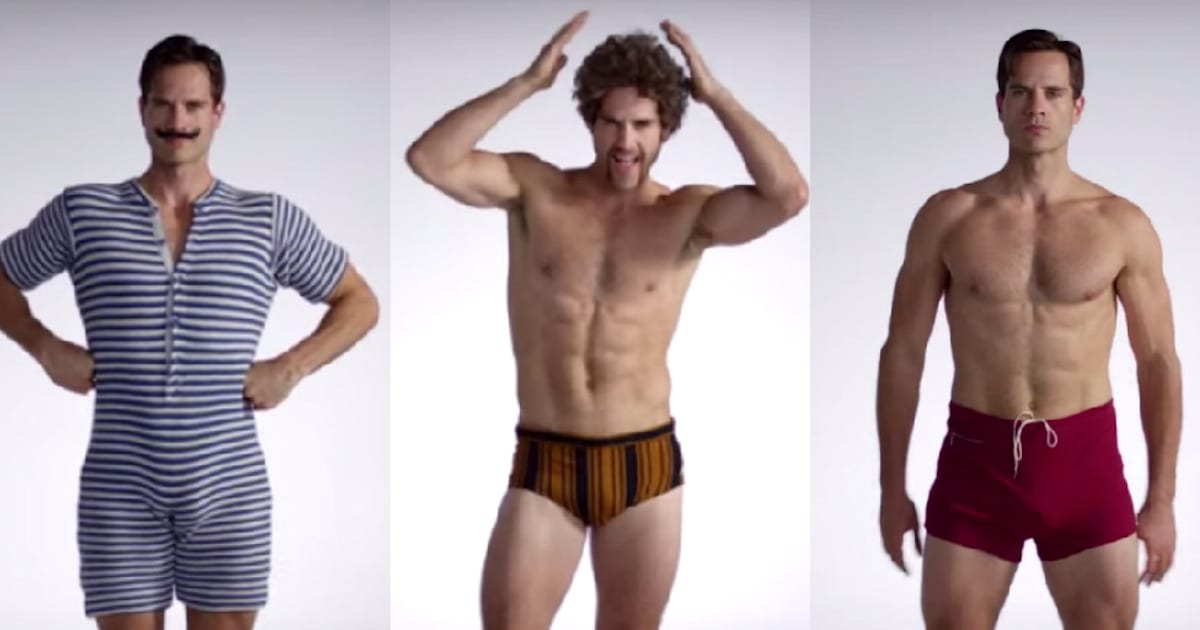 8696f28e55939 100 Years Of Men s Swimsuits Video  See A Century s Worth Of Bathing Suits  In 3 Minutes