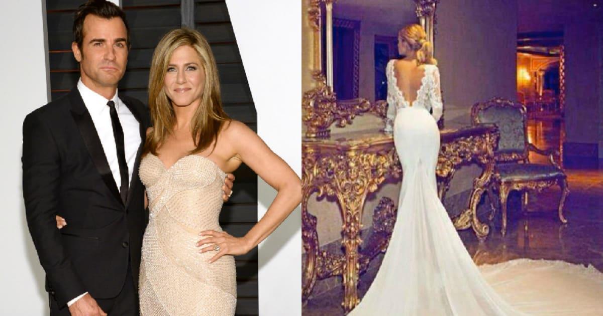 Viral Jennifer Aniston Wedding Dress Designed By Dimitrius Dahlia