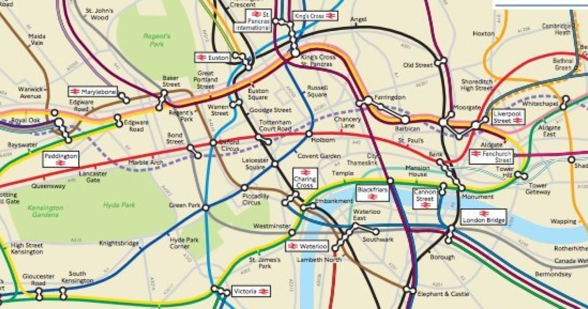 London Underground Geographically Accurate Map Obtained By Freedom