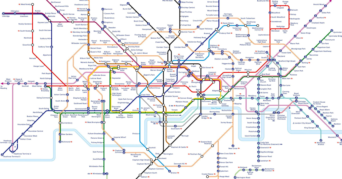 elizabeth line london tube map shows how capitals underground will look with crossrail