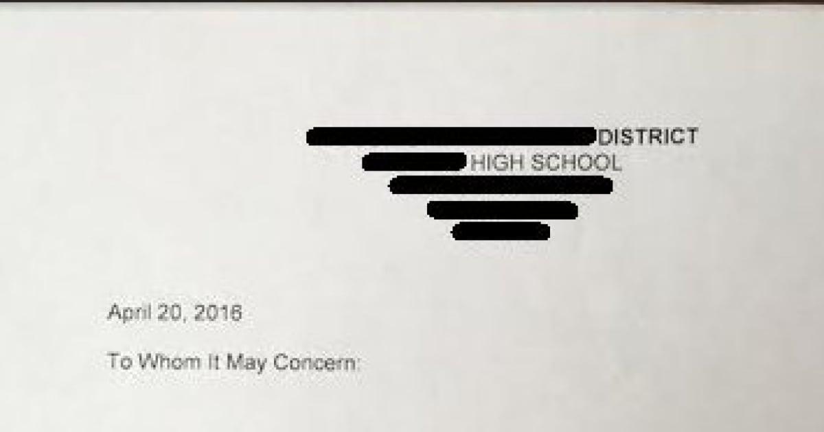 Schüler bittet Lehrer um Empfehlungsschreiben - das sollte er bereuen