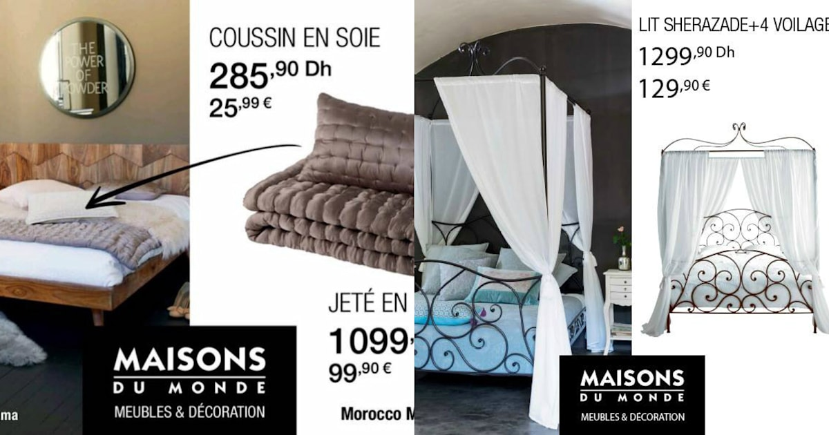 maisons du monde tacle indirectement ikea en affichant ses prix en euro et en dirham. Black Bedroom Furniture Sets. Home Design Ideas