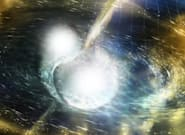 In A First, Scientists Spot Light Amid Gravitational Waves Emitted By Colliding