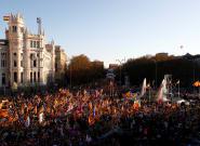 Manifestación en Madrid por el derecho de autodeterminación en Cataluña: