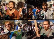 Marche pour le climat: on a demandé aux (nombreux) participants de rassurer Nicolas