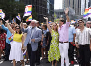Justin Trudeau, Philippe Couillard Join Revelers At Montreal Pride