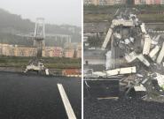 Le pont Morandi à Gênes s'effondre, les images de