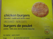 Loblaw Recalls No Name Chicken Burgers Over Salmonella