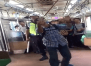 Indonesian Passenger Brings The Pain To Snake On