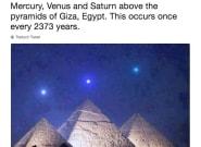 El bulo de los planetas alineados con las pirámides de Egipto que no te debes
