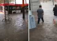 Les rues de Barcelone inondées après un violent