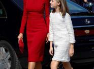 La reina Letizia vuelve a apostar por el rojo en los Centanarios de Covadonga