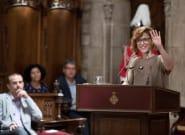 El gesto sorpresa de Leticia Dolera durante el pregón de las Fiestas de la Mercè de