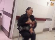 Le geste émouvant de cette policière argentine qui allaite un bébé abandonné à
