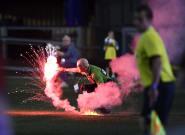 Toronto FC Fans Set Off Fireworks During Game In Ottawa