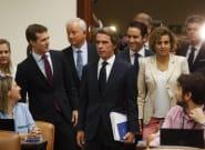 En imágenes: así ha sido la comparecencia de Aznar en el