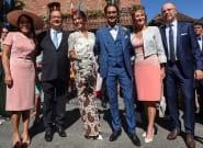 François Hollande et Ségolène Royal au mariage de leur fils Thomas Hollande en