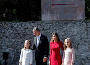 La princesa Leonor debuta en su primer viaje oficial a los Centenarios de Covadonga