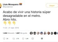 La desagradable experiencia racista y sexista de un tuitero en el Metro de