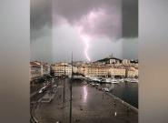 Les images des énormes orages dans le