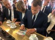 Emmanuel Macron joue (mais ne gagne rien) au loto du