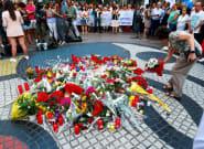 Ofrenda floral por las víctimas en el aniversario de los atentados de Barcelona y