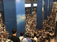 Après la tempête Mangkhut à Hong Kong, les images impressionnantes des métros