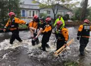 El huracán 'Florence', debilitado, sigue causando