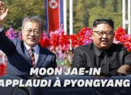 Kim Jong Un et Moon Jae-in, son homologue sud-coréen, défilent à Pyongyang sous les